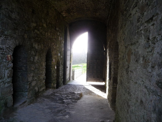 Inside the gatehouse, Kidwelly Castle