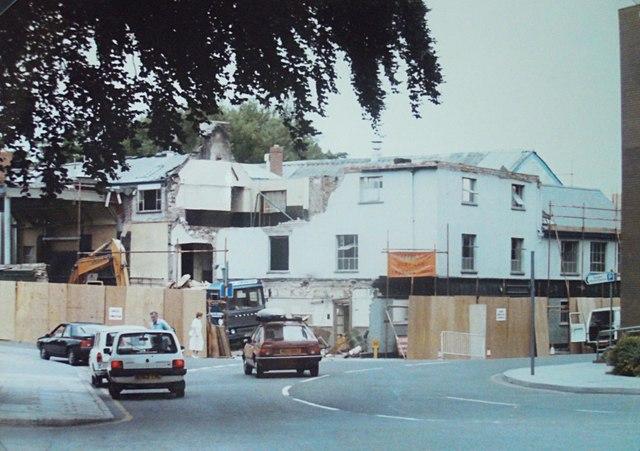 Demolition of County Gazette Office 1985