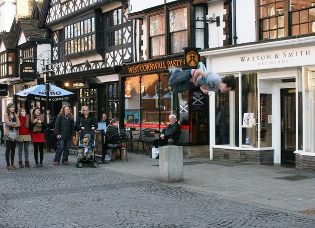 Street gymnast in Fore Street