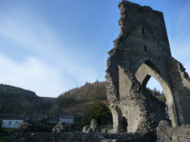 Talley Abbey ruins and Talley village
