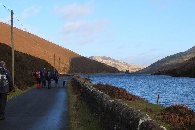On the road by Loganlea Reservoir