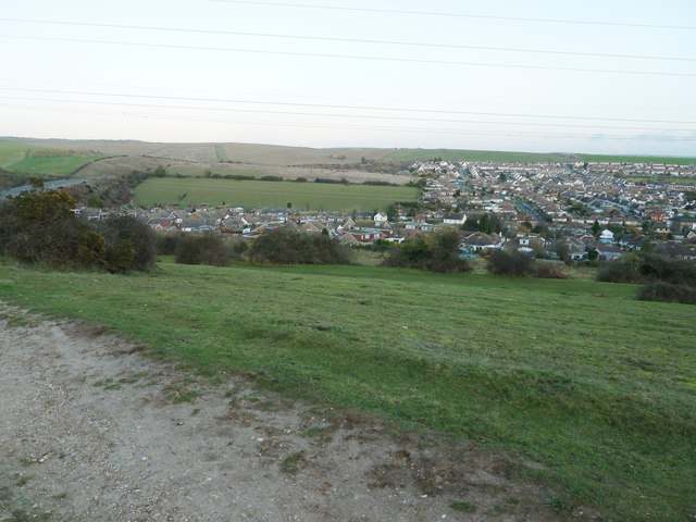Northern end of Mile Oak from Southwick Hill