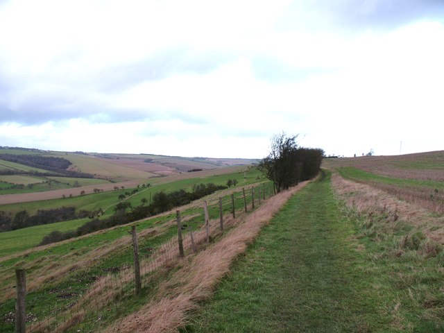The Wolds Way above Millington