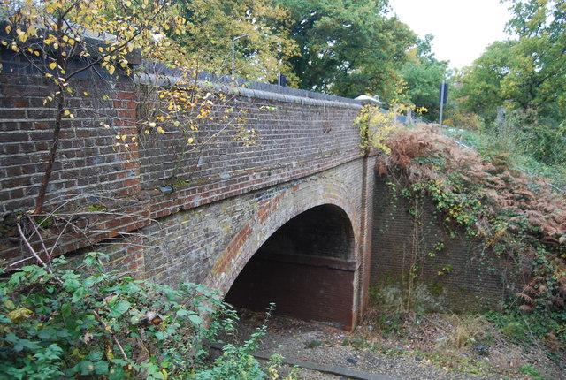 Mytchett Place Road Bridge over the railway