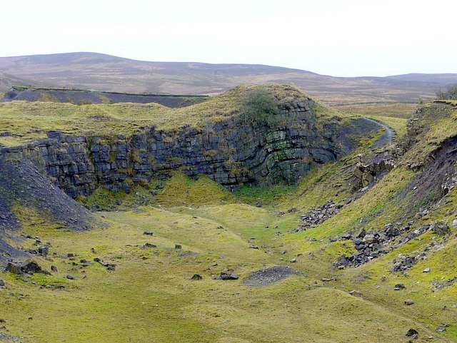 Anticline in the Great Limestone at Foresthead Quarry