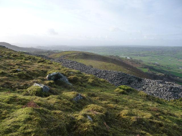 View from the ramparts of Y Gaer Fawr, Carn Goch