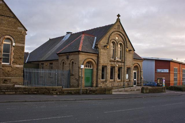 A former church now used by a tool hire business