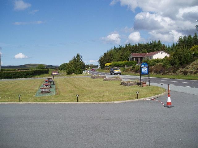 Skye Half Marathon 2011 lead vehicle near Borve