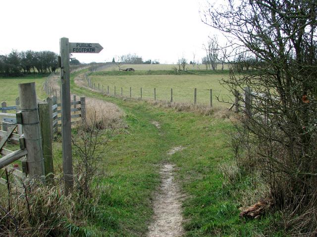 Public footpath to Little Wenham