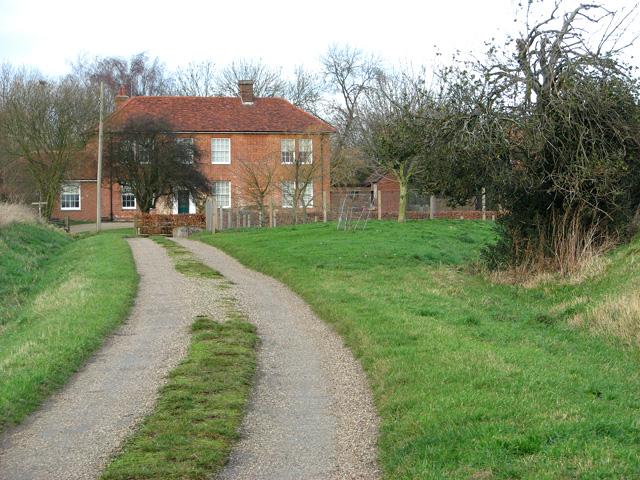 The lane to Burstall Hall