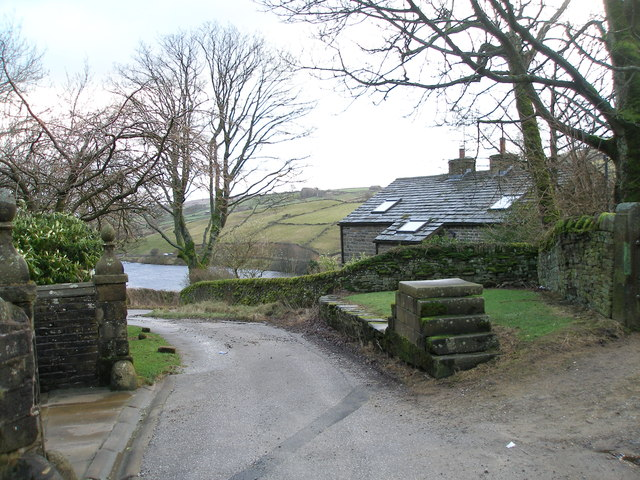 The road past Ponden Hall