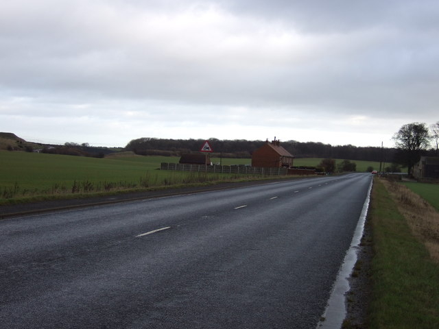 A63 towards Selby
