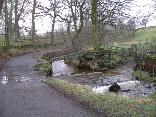Bridge and ford near Wycoller