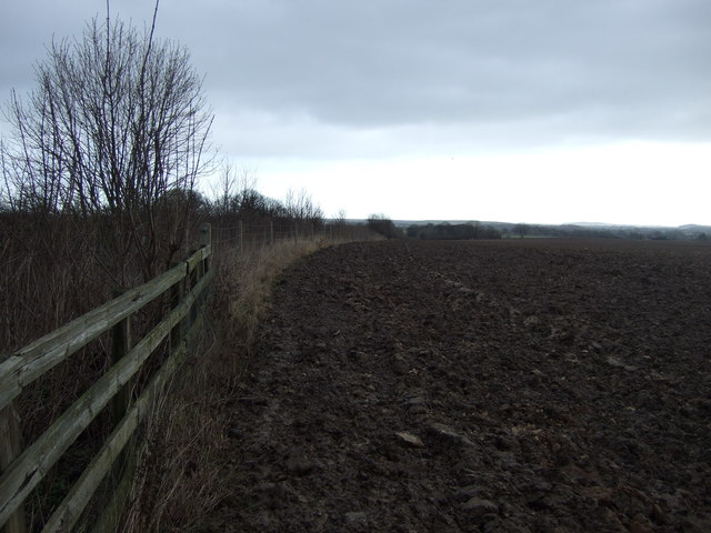 Ploughed field near the railway
