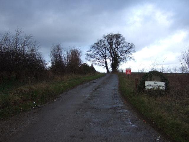 Track to Huddleston Grange