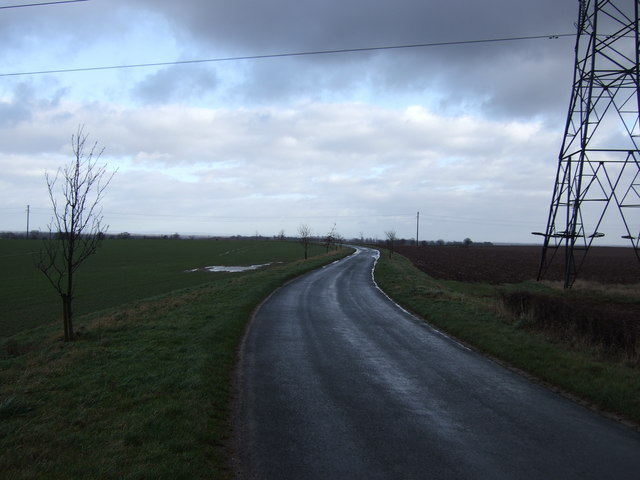 Coldhill Lane towards Saxton