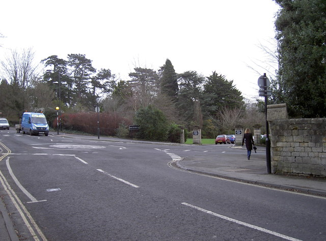 Roundabout at the top of the hill