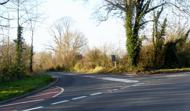 Road junction between A275 and B2116 at Offham