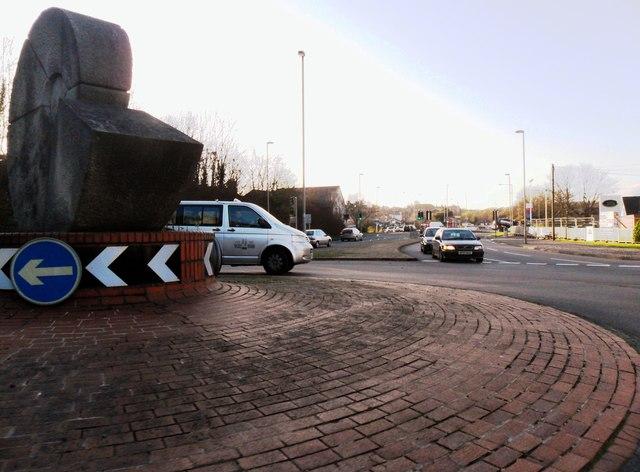 'Snail' roundabout, Lewes