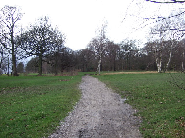 Cycle track towards Leeds