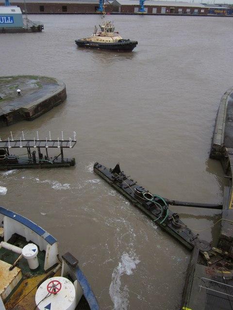 Lock gates, King George Dock, Hull