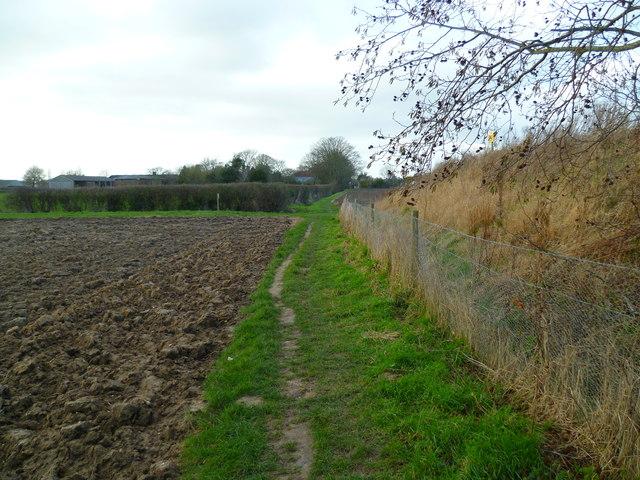 Footpath by ploughed field into Bosham