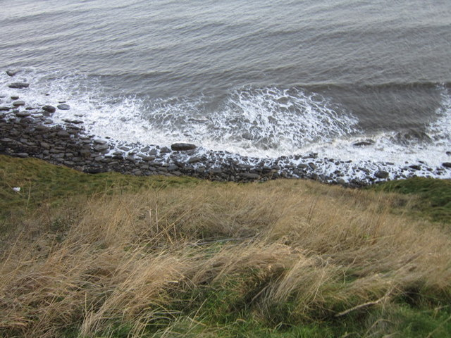 Looking down North Cliff from the cliff edge