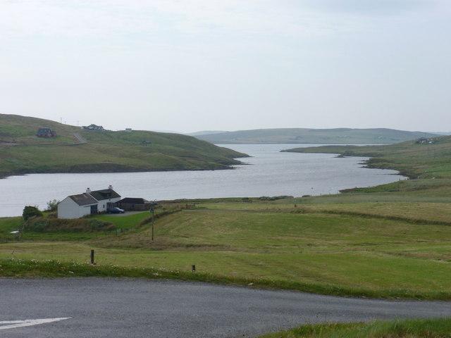 East Burrafirth: view along the firth