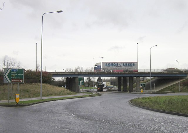 Flyover, Mount Pleasant roundabout, Hull