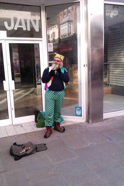 Busker, Regent Street, Swindon