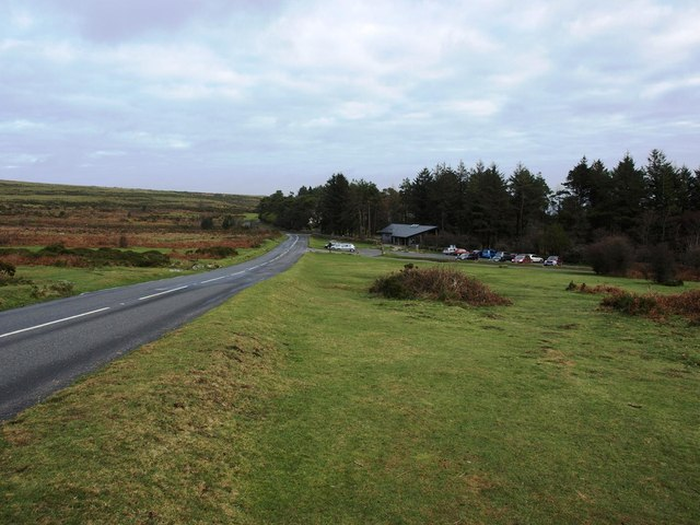 Approaching the Dartmoor National Park centre below Haytor Rocks