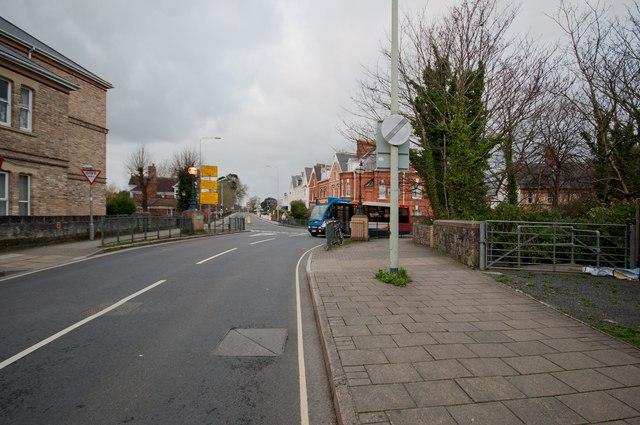 Newport Road passing over Coney Gut