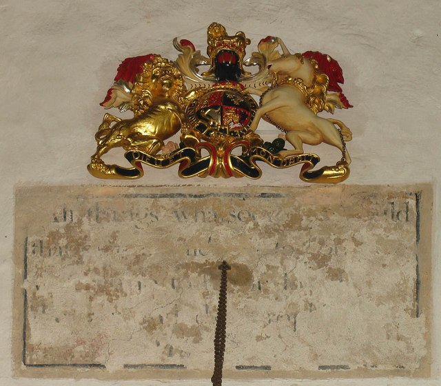 St Katharine, Gosfield - Royal Arms