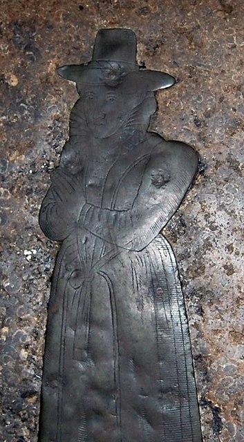 Brass of Joan Austen, Horsmonden church