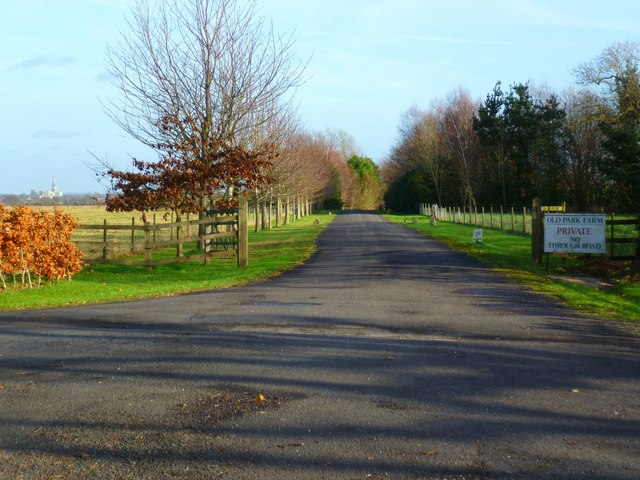 Driveway to Old Park Farm