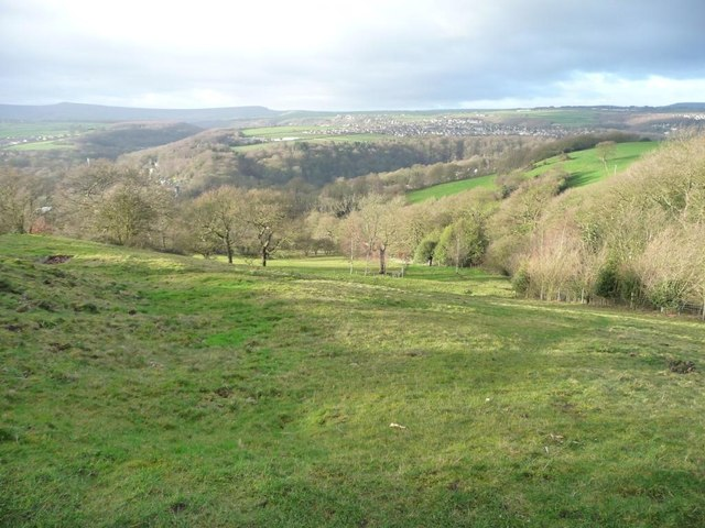 Looking down into the Holme Valley