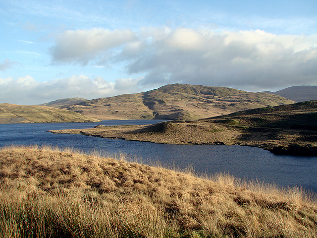 A view over Nant-y-moch Reservoir