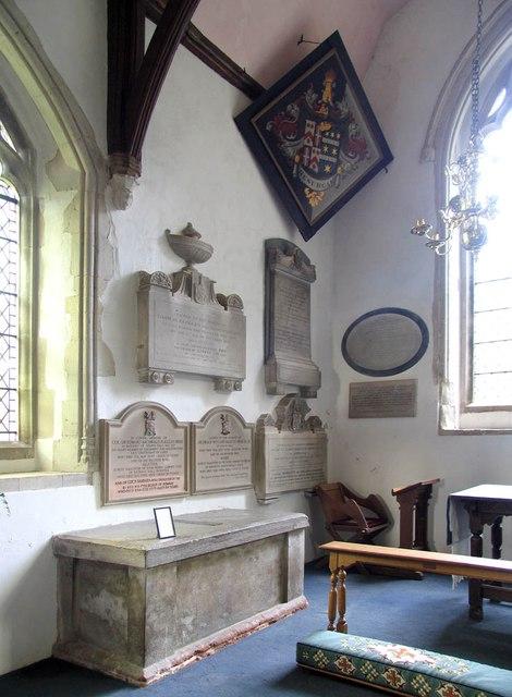 St John, Finchingfield - Hatchment & wall monuments