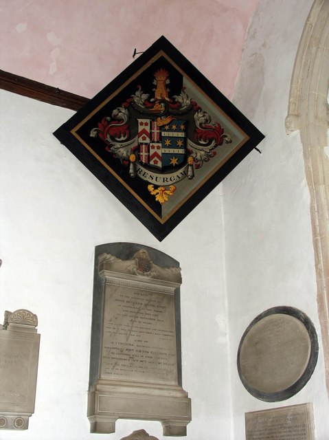 St John, Finchingfield - Hatchment & wall monuments