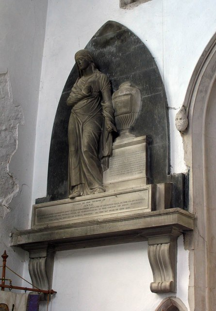 St John, Finchingfield - Wall monument
