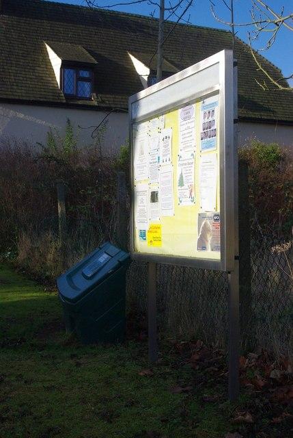 Cockayne Hatley  notice board