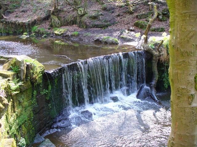 Waterfall at Greenway Bank