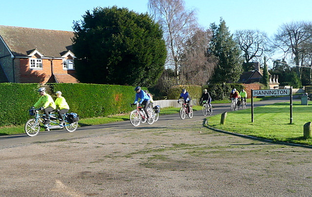 Cyclists at Hannington