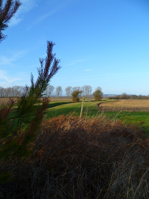 Path junction north of Hook Farm
