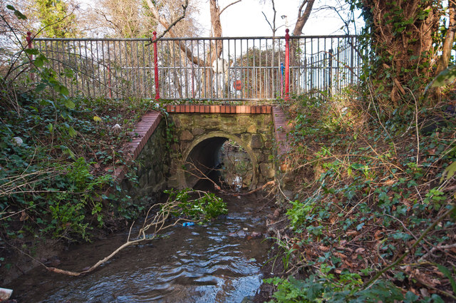 A bridge on Hollowtree Cycleway as seen from upstream on Coney Gut