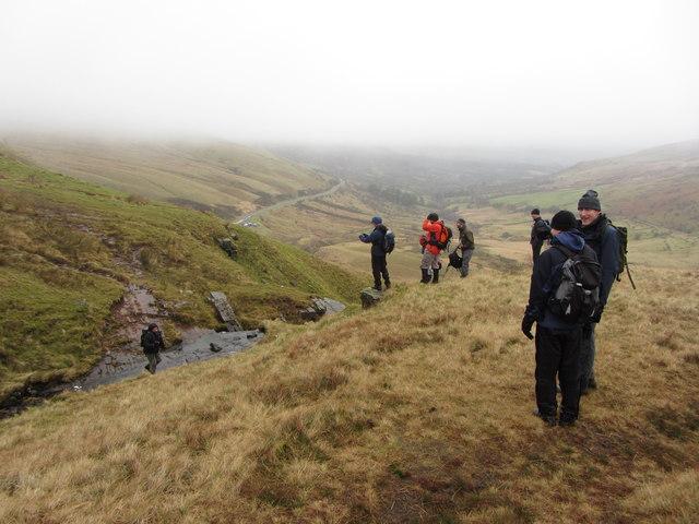 Stream crossing overlooking Glyn Tarrell