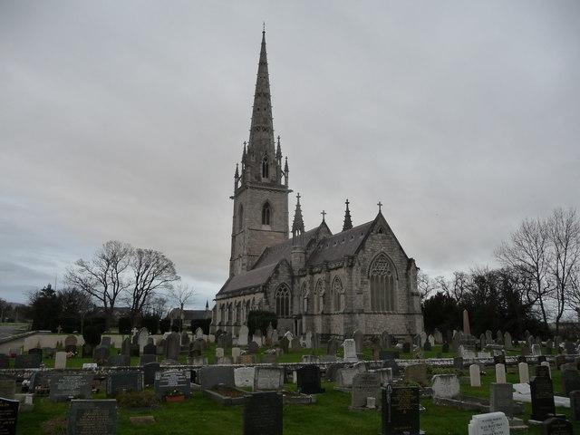 The Marble Church, Bodelwyddan in winter