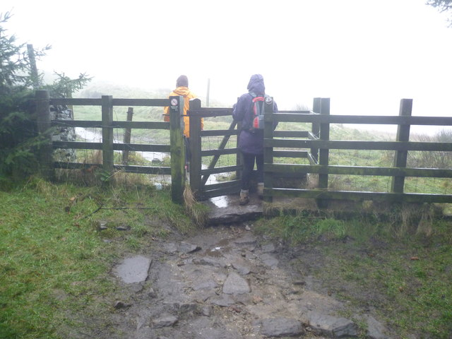 Kissing Gate on the edge of Macclesfield Forest