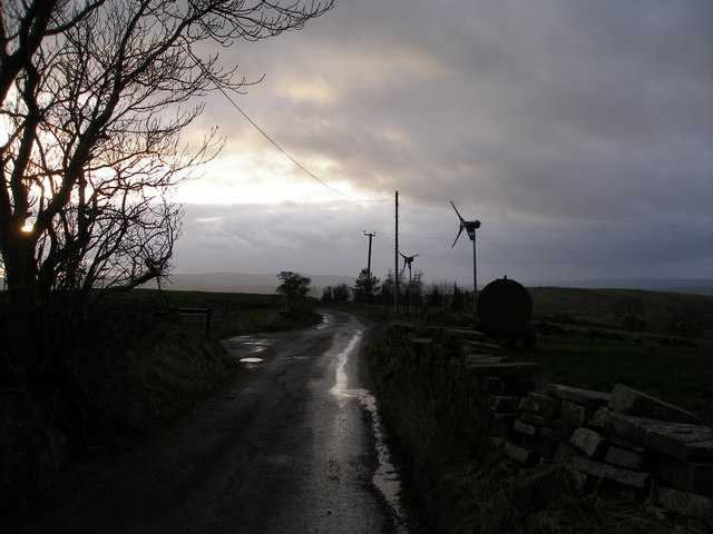 Wind power on Monk Hall Lane