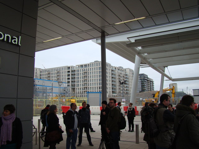 View of Stratford New Town from Stratford International DLR station